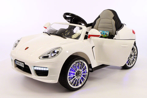 2017 Bokster Electric Kids Ride-On Car MP3,Leather,Removable Baby Table,Remote|White