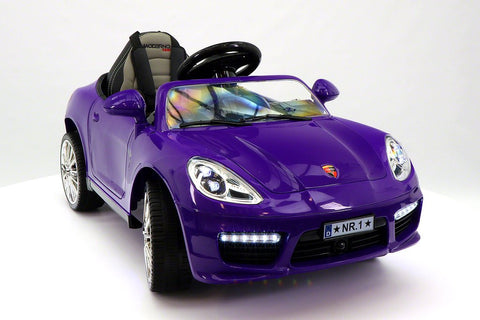 2017 Bokster Electric Kids Ride-On Car MP3 12V Leather Removable Baby Tray R/C Purple