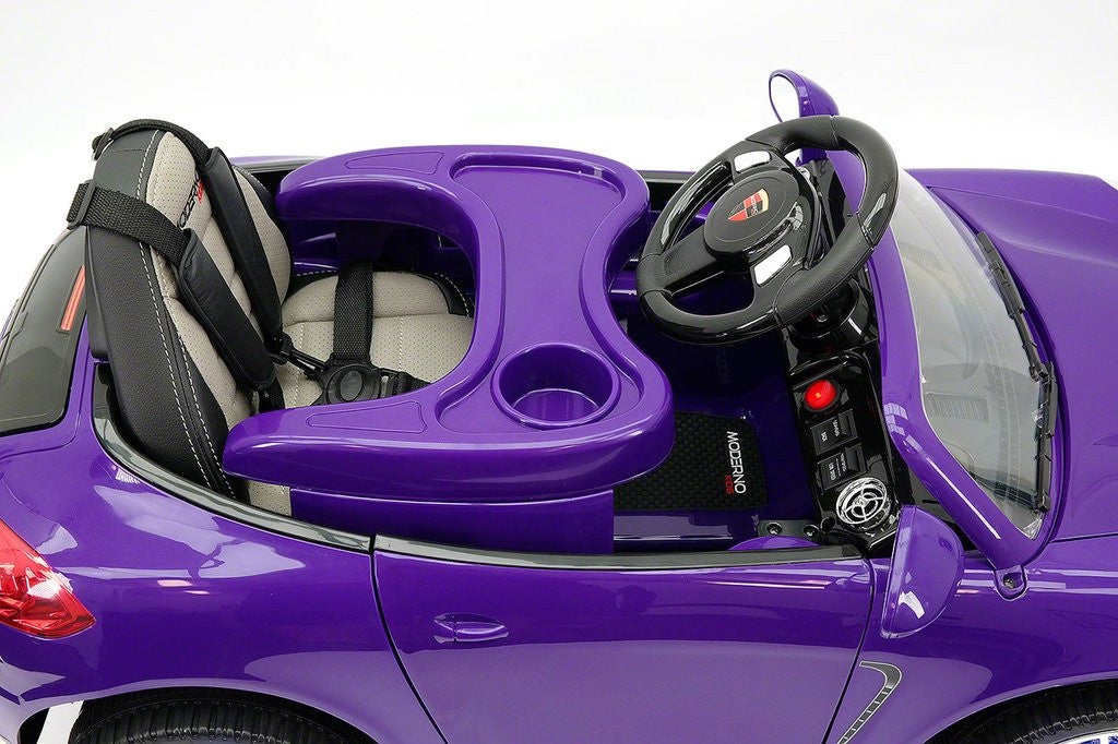 5fc439d047a 2018 PORCHE BOKSTER 12V BATTERY OPERATED KIDS ELECTRIC RIDE-ON CAR PURPLE  METALLIC