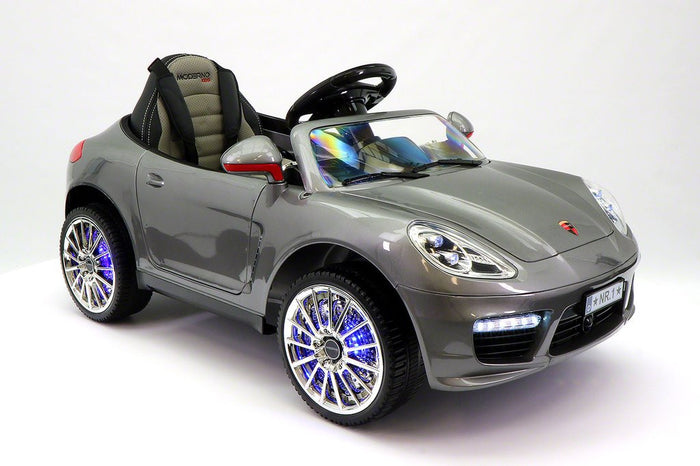 2018 PORCHE BOKSTER 12V BATTERY OPERATED KIDS ELECTRIC RIDE-ON CAR GREY METALLIC