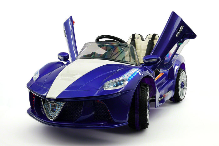 2019 SPIDER RACER RIDE-ON CAR TOYS FOR KIDS | BLUE METALLIC