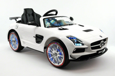2017 Mercedes SLS | 12V | Kids Ride-On Car | USB MP3 | LED Headlights | RC | Parental Remote | White