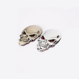 New 3D Metal Skull Logo Emblem Sticker Car