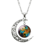 New Silver Fashion Moon Butterfly Pendant