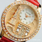 Women Rhinestone Luxury Crystal The Eiffel Tower Watch