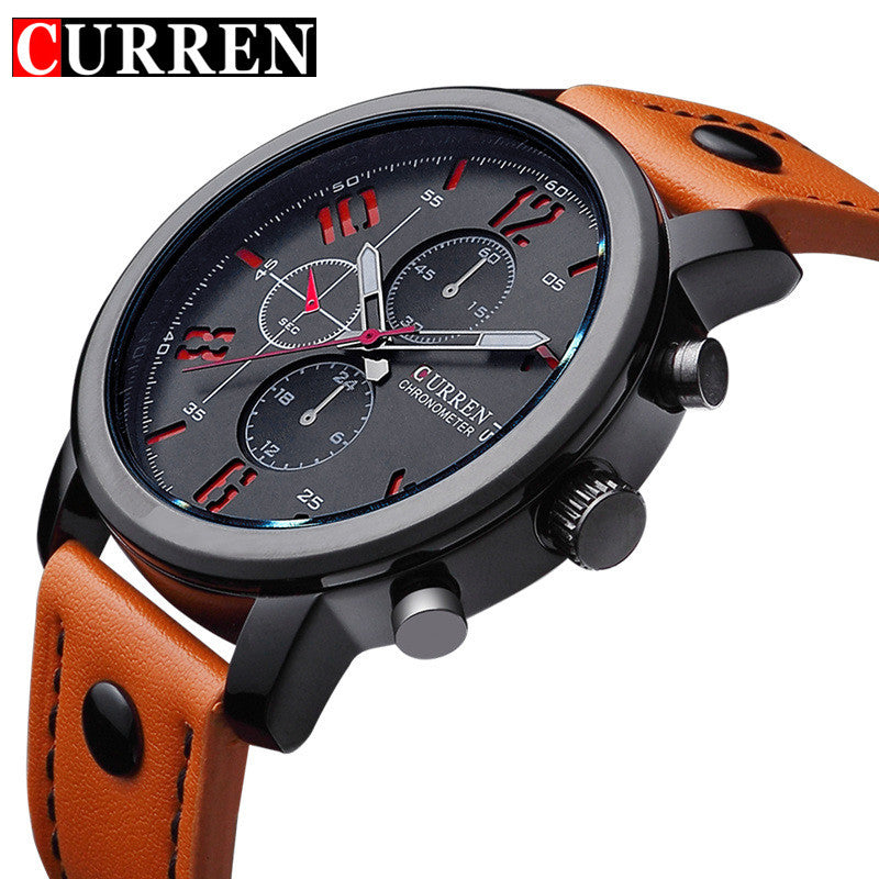 Top Brand Luxury Leather Wristwatches