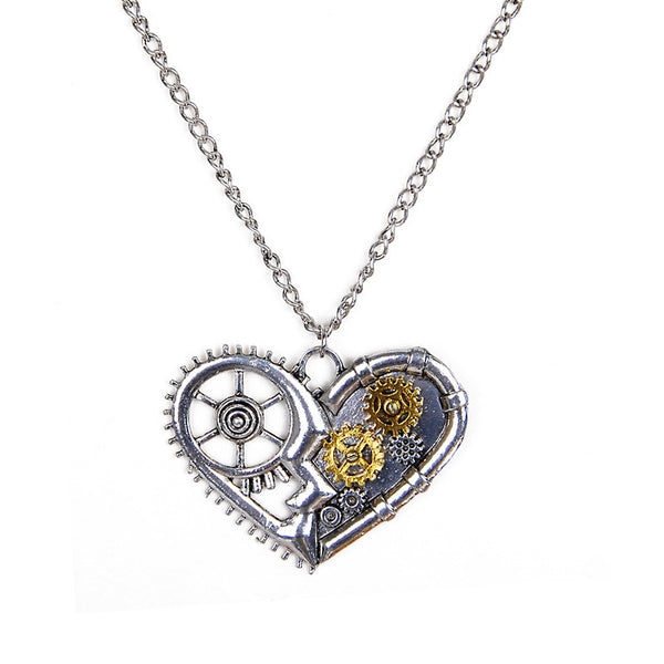 Vintage Gears Steampunk Necklace