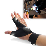 LED Fingerless Glove Flashlight