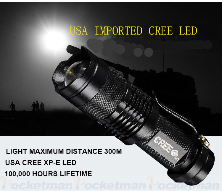 Zoomable Waterproof Tactical Light