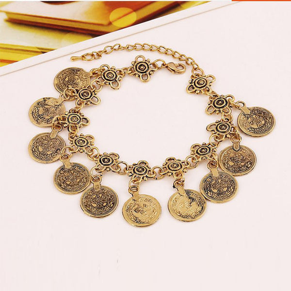 Bohemian Boho Turkish Coin Anklet - FREE Offer