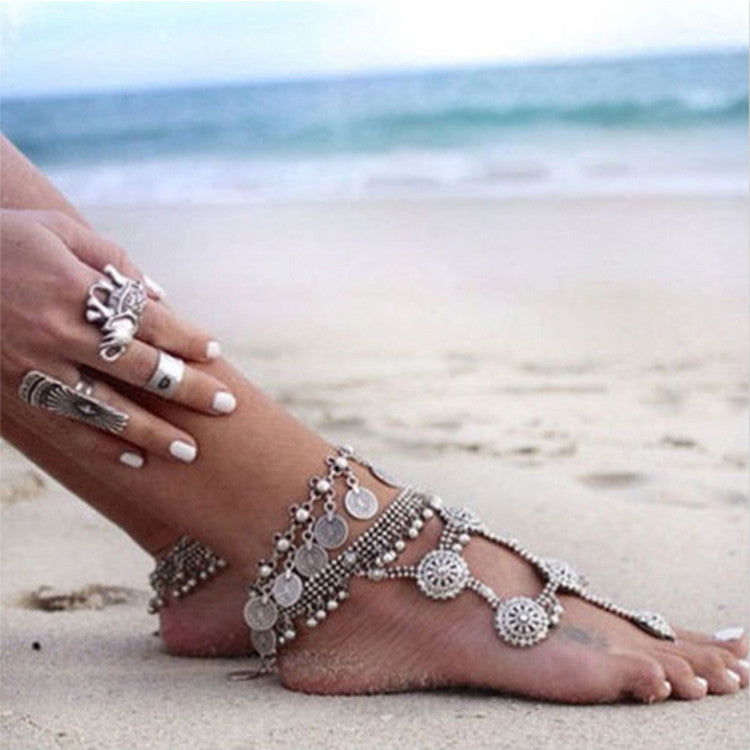 Bohemian Boho Turkish Coin Anklet