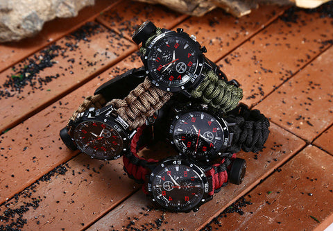 Multifuctional Survival Paracord Bracelet Watch