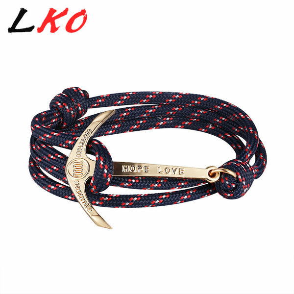 Anchor Multilayer Leather Bracelet