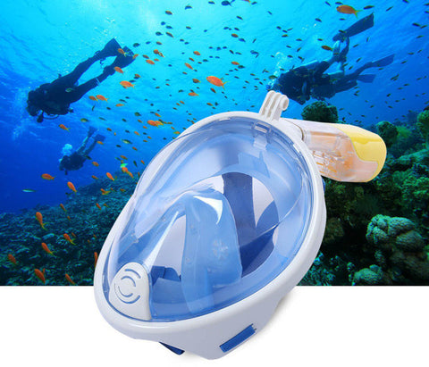 Full Face Diving / Snorkel Mask w/GoPro Mount - Discounted Price