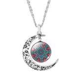 Handmade Glass Moon Pendant