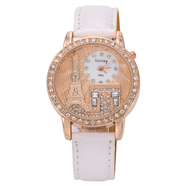 Paris Eiffel Tower Women Quartz Vintage Watch
