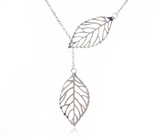 Double Leaf Short Chain Necklace - FREE Offer