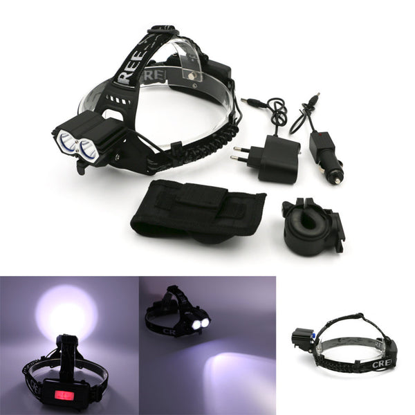 LED Super Bright 4 Modes 2 In 1 Bicycle Headlamp