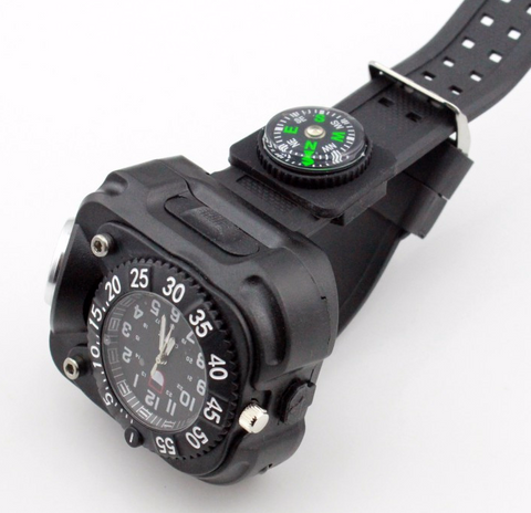 LED Tactical Compass Wrist-light (Waterproof)