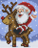 1 Baseplate kit - Santa with Rudolph