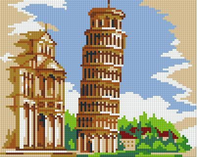 4 Baseplate kit - Tower of Pisa