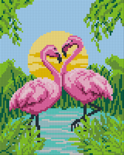 4 Baseplate kit - Flamingos