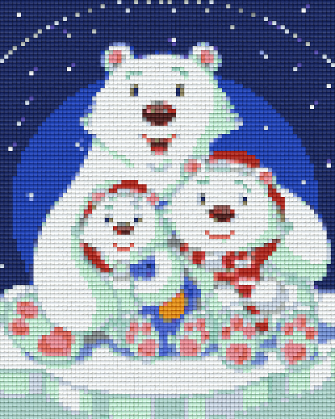 4 Baseplate kit - Polar Bear Family
