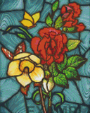9 Baseplate kit - Stained Glass Flowers