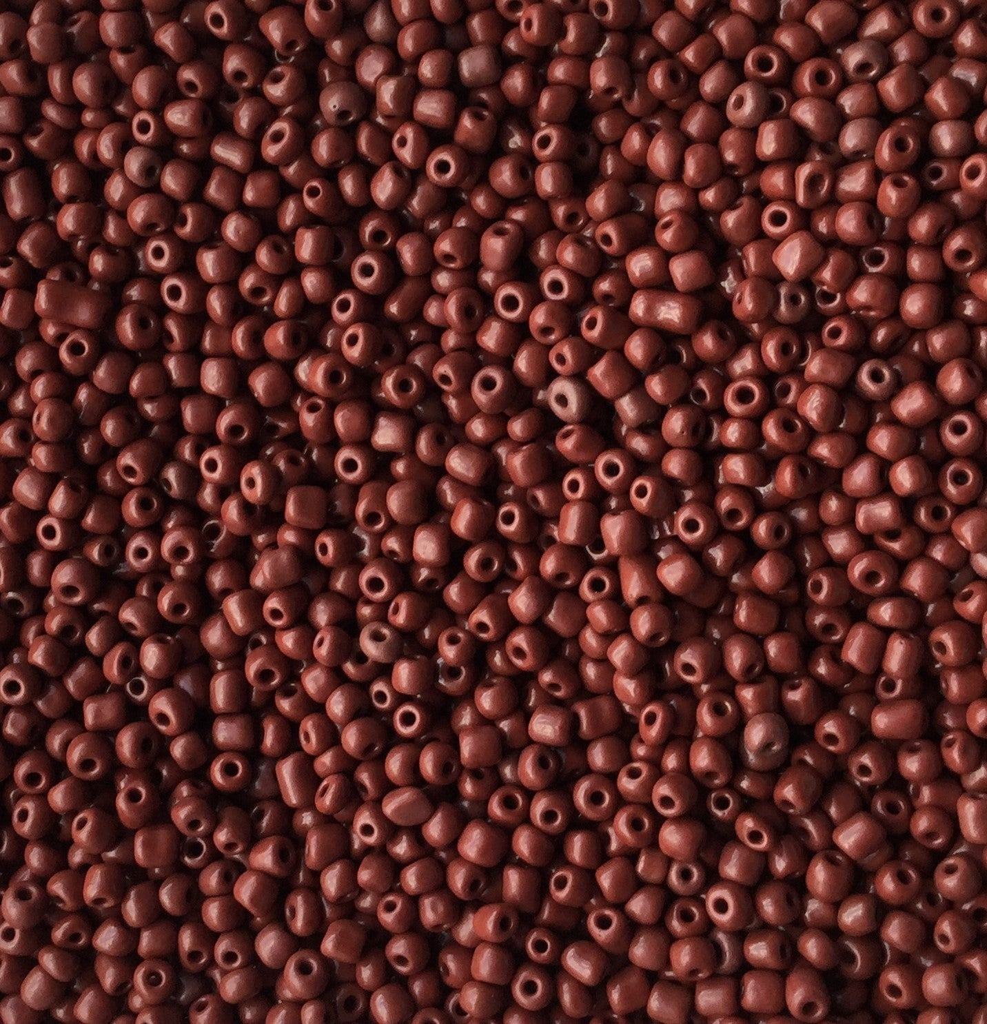 Coconut Brown Glass Seed Beads Opaque