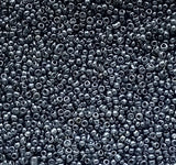 Dark Gray Glass Seed Beads Transparent