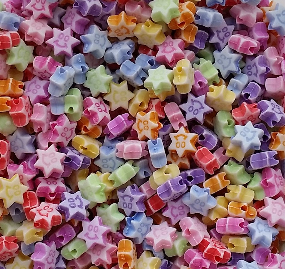 Acrylic Smiling Star beads