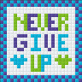 Mini Magnet - Never Give Up