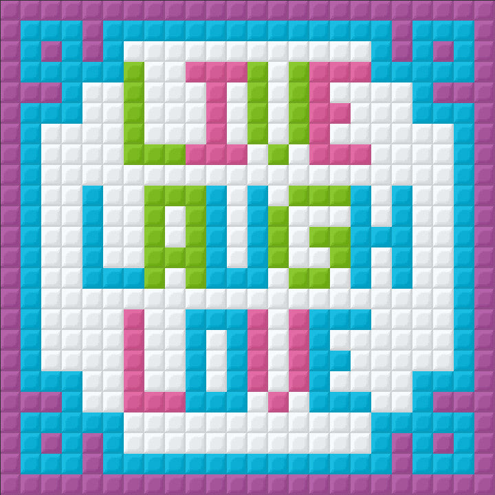 Mini Magnet - Live Laugh Love