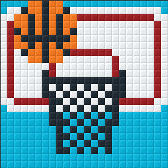 Mini Magnet - Basketball