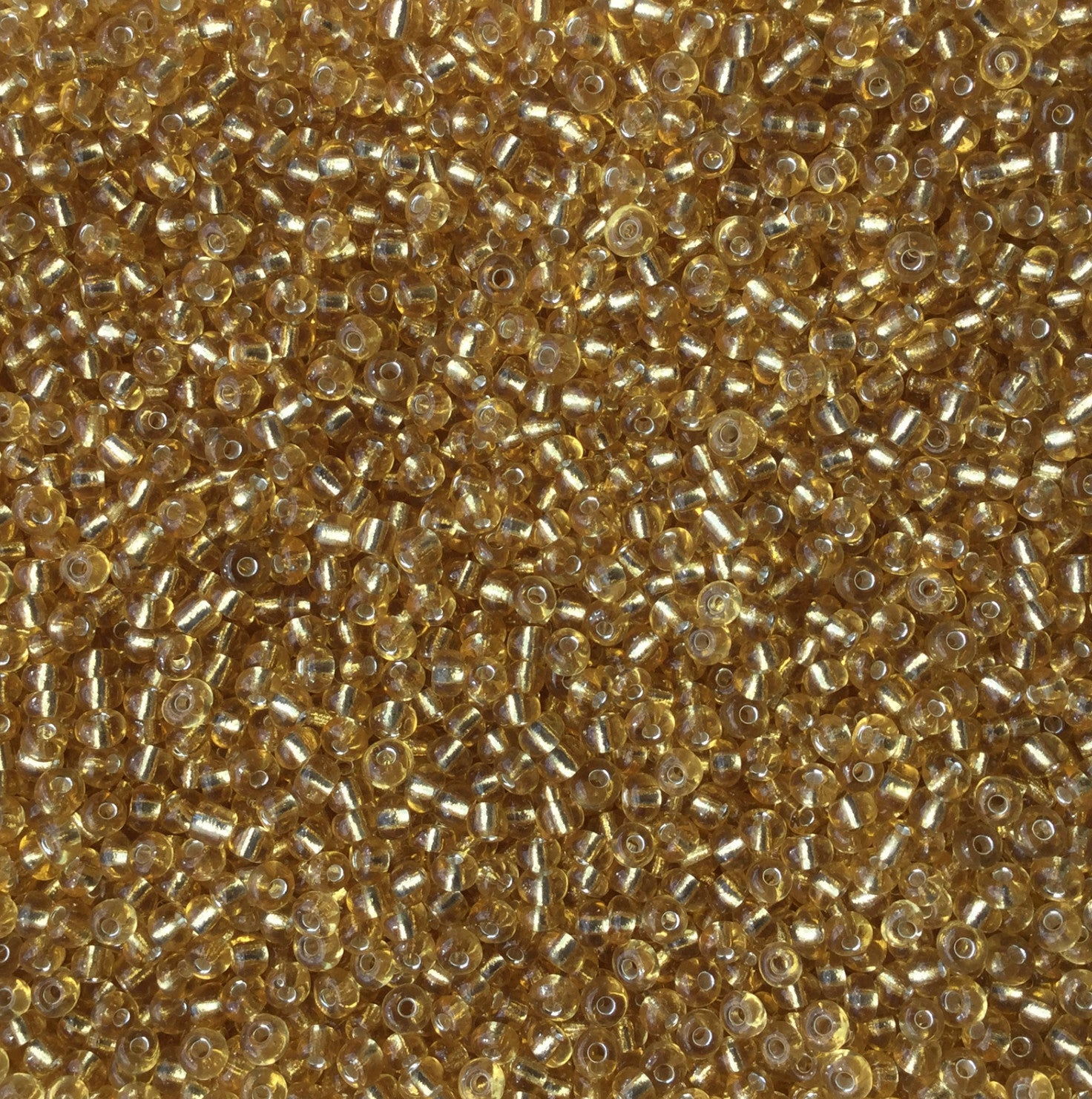 Pale Golden Rod Glass Seed Beads Transparent Lined
