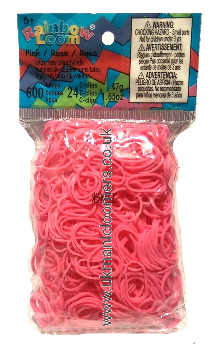 Pink (Opaque) - UK Manic Loomer