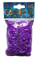 Rainbow loom Purple Lilly dual layer bands