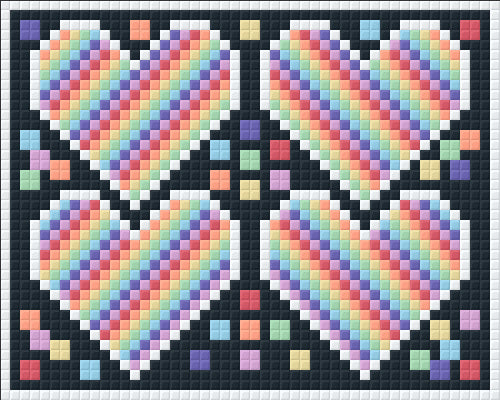 1 Baseplate kit - Rainbow Hearts