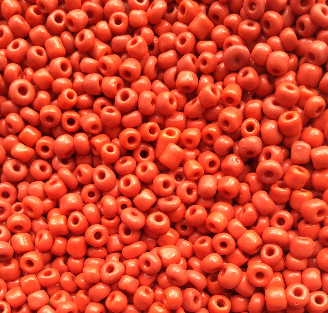 Red Glass Seed Beads Opaque