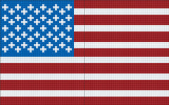 2 Baseplate kit -  Stars and Stripes