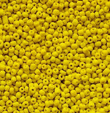 Yellow Glass Seed Beads Opaque
