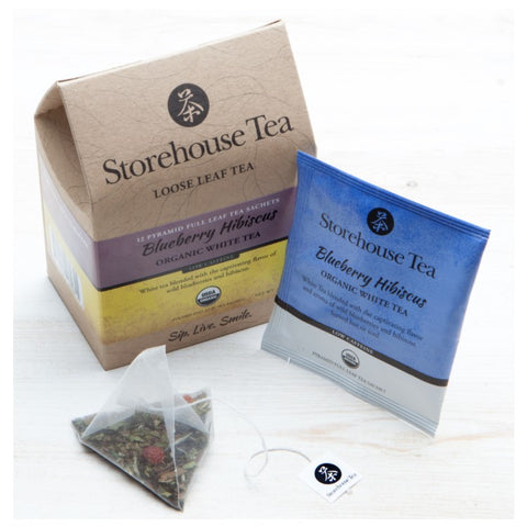 Blueberry Hibiscus White Tea Sachets