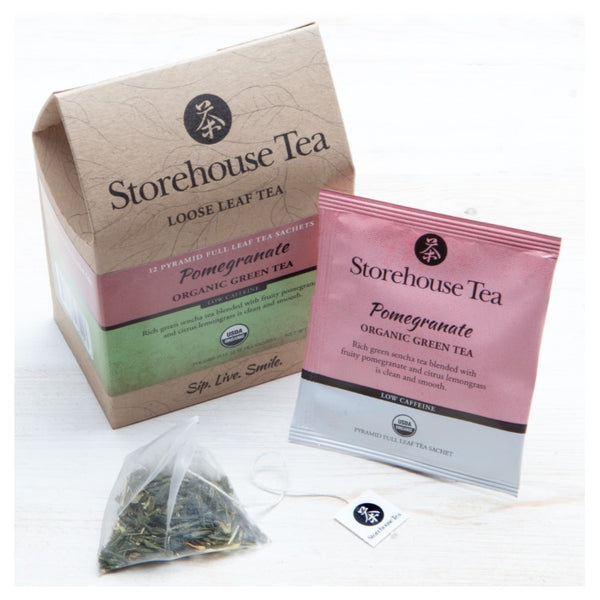 Pomegranate Green Tea Sachets