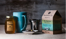 Organic Loose Leaf Tea + Raw Honey + Infuser Tea Mug