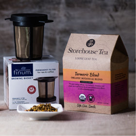 Loose Leaf Tea Box + Infuser Tea Basket