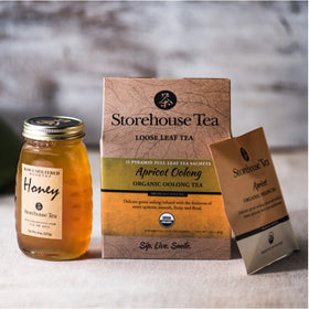 Organic Tea Sachet Box + Raw Honey