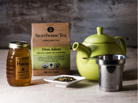 Organic Loose Leaf Tea + Raw Honey + Infuser Tea Pot
