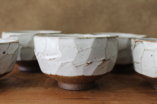 White Winter Hand Crafted Matcha Bowl