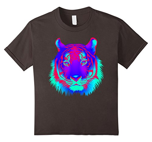 EDM Electronic Dance Techno Neon Tiger Rave