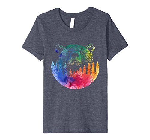 Bear In The Forest T Shirt Colorful Forest Animal Design